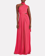 Honey Crepe Cut-Out Gown, PINK, hi-res