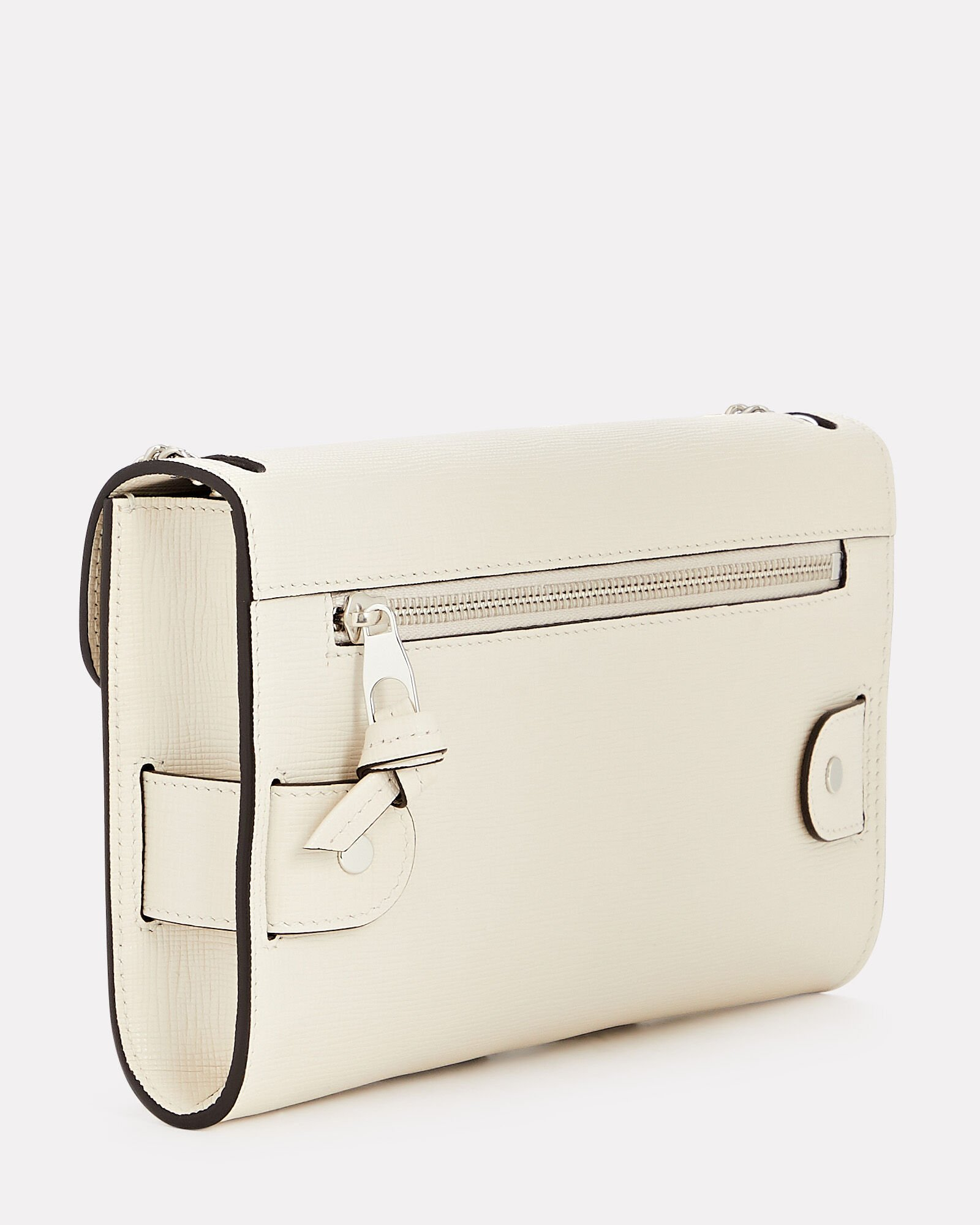 PS11 Linosa Leather Clutch, BEIGE, hi-res
