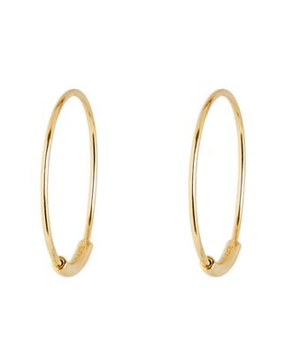 Basic 19 Hoop Earrings, GOLD, hi-res