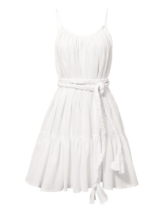 Nala White Mini Dress, WHITE, hi-res