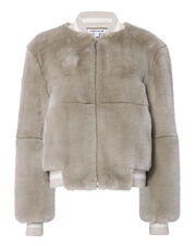 Ellington Faux Fur Bomber Jacket, BEIGE, hi-res