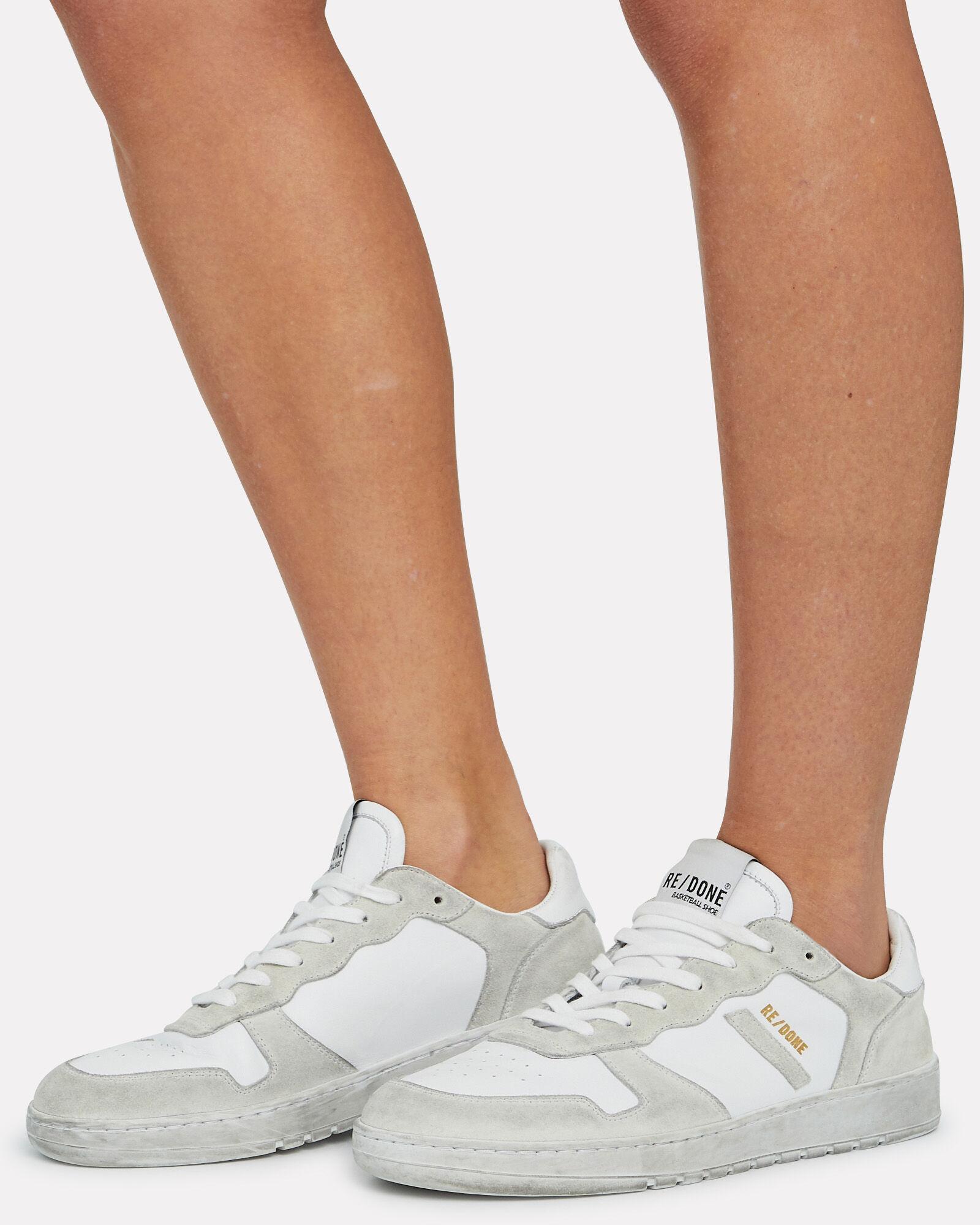 80's Low-Top Basketball Sneakers, WHITE, hi-res