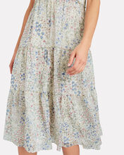 Tiered Floral Chiffon Dress, IVORY FLORAL, hi-res