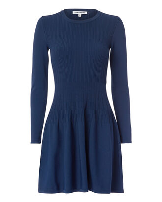 Tao Ribbed Mini Dress, NAVY, hi-res