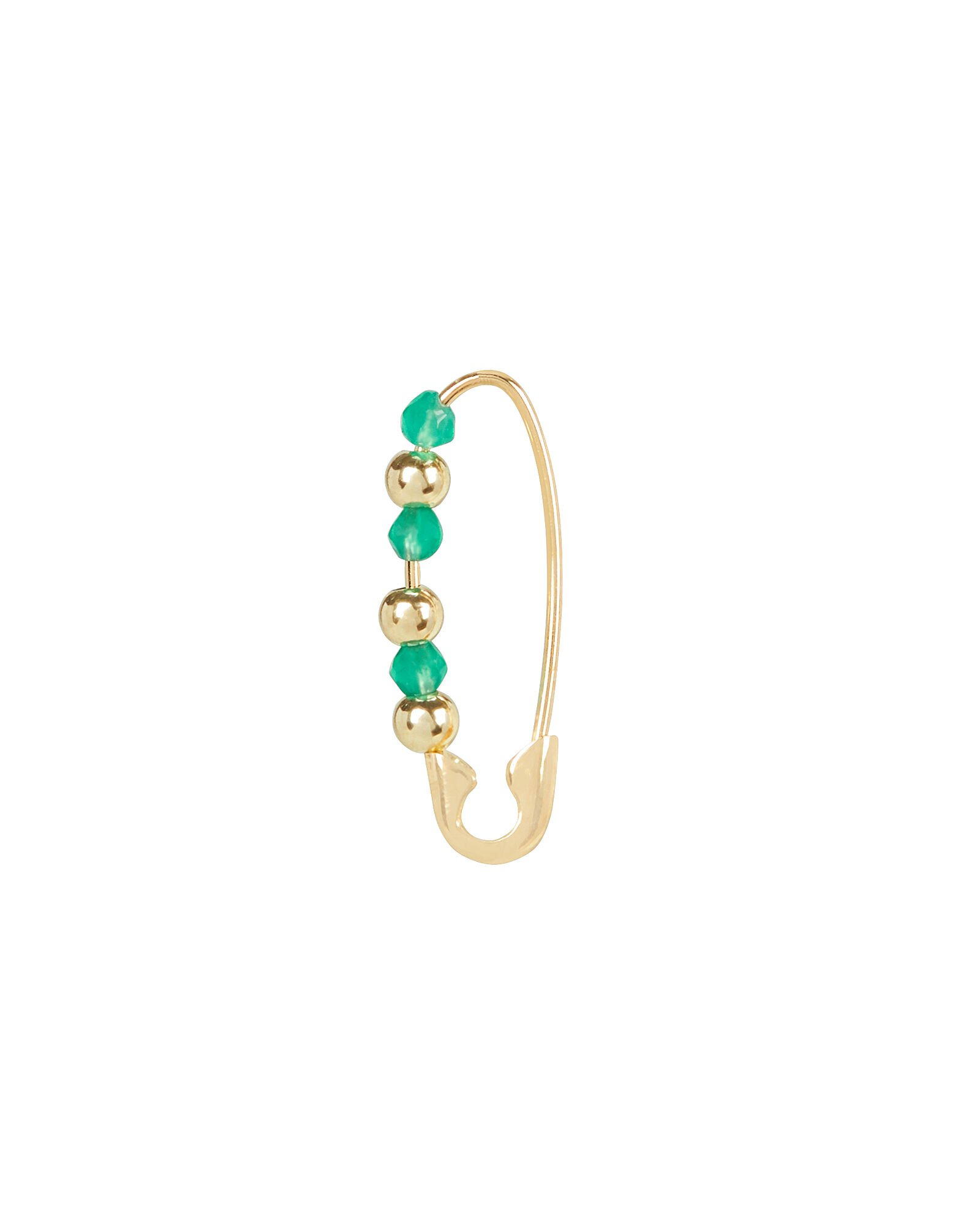 Friendship Safety Pin Earring, GOLD, hi-res