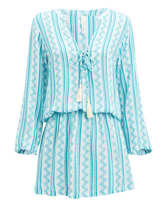 Chloe Mini Dress, LIGHT BLUE/WHITE, hi-res