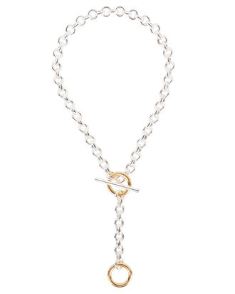 Deux Toggle Chain Necklace, SILVER/GOLD, hi-res