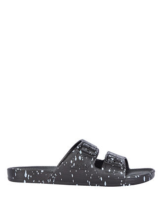Black Splatter Moses Two Band Slide, BLACK, hi-res