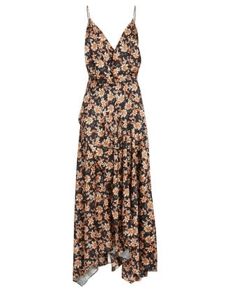 Vales Floral Sleeveless Midi Dress, BLACK/BEIGE, hi-res