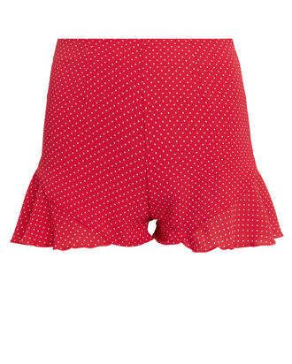 Annie Red Polka Dot Shorts, RED/WHITE POLKA DOT, hi-res