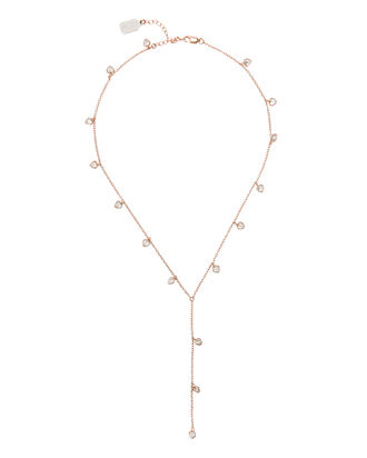 Rose Gold Heart Y Necklace, GOLD, hi-res