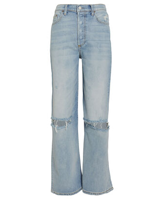 Mikey Flared Wide Leg Jeans, LIGHT WASH DENIM, hi-res