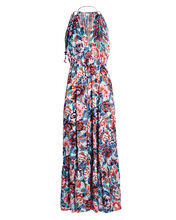 Rachel Sleeveless Floral Maxi Dress, BLUE/PINK, hi-res