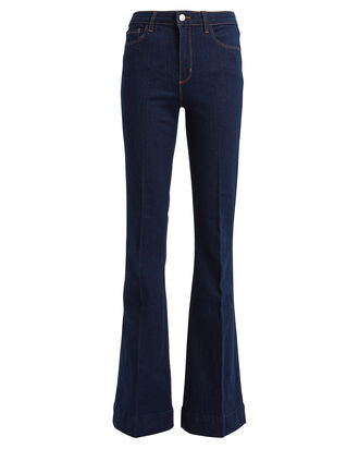 The Affair Flared High-Rise Jeans, DENIM-DRK, hi-res