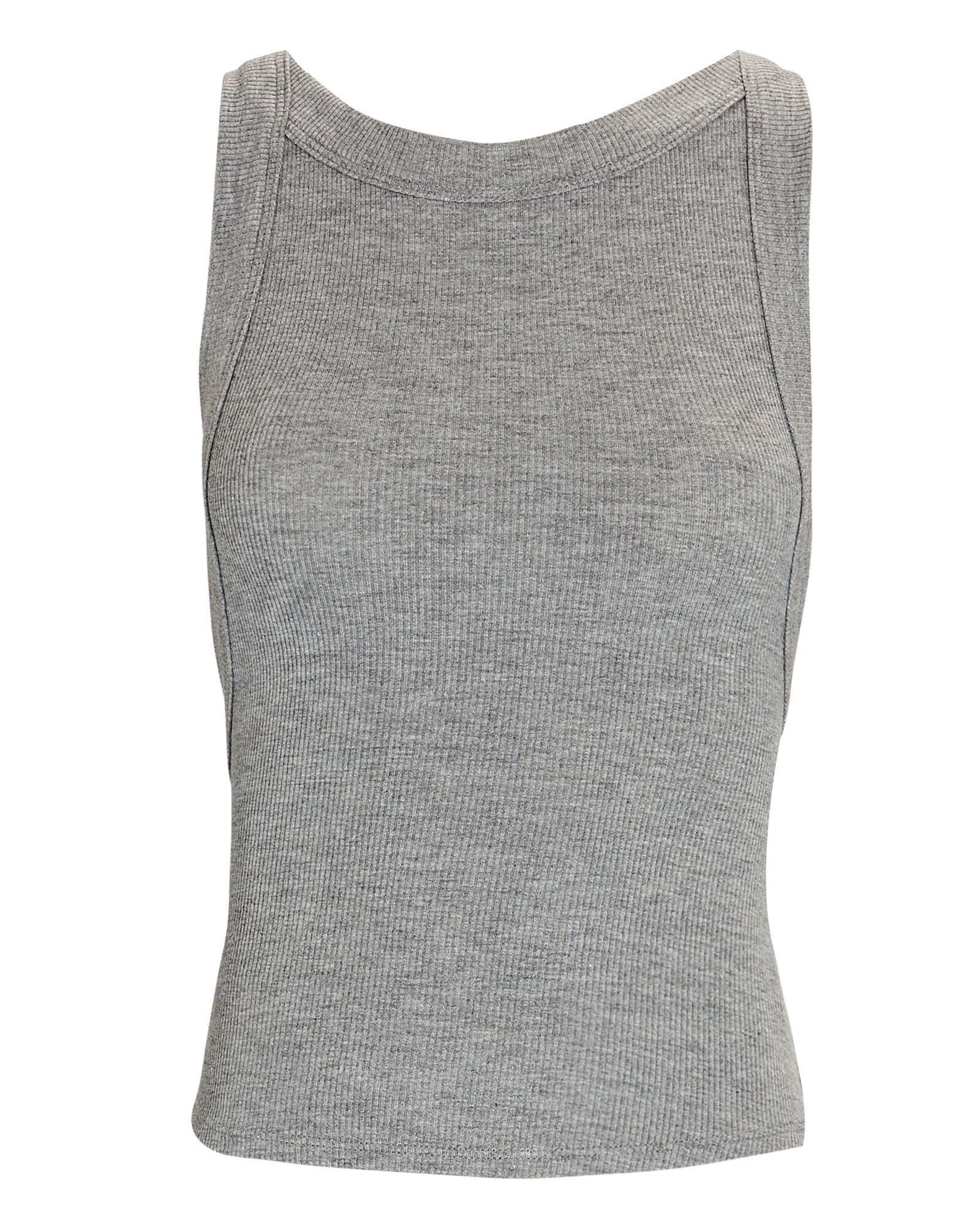 Ximeno High Neck Tank Top, GREY, hi-res