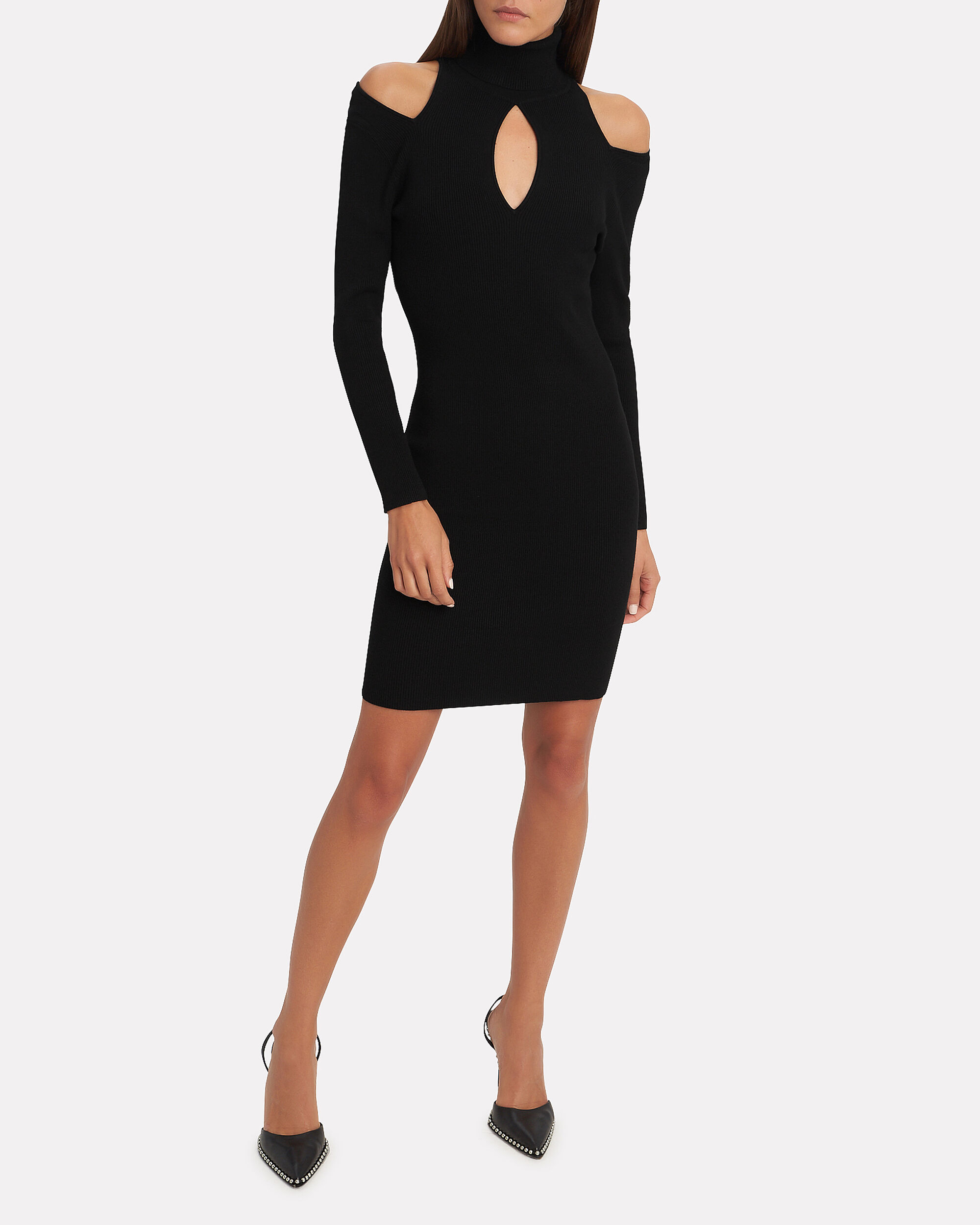 Ollie Cutout Dress, BLACK, hi-res