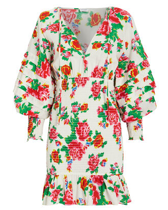 Anya Smocked Floral Dress, MULTI, hi-res