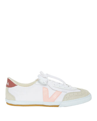 Petal Wing-Tip Sneakers, WHITE, hi-res