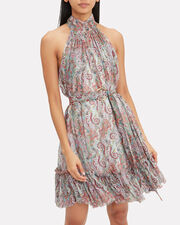 Ninety-Six Paisley Mini Dress, PURPLE PAISLEY, hi-res