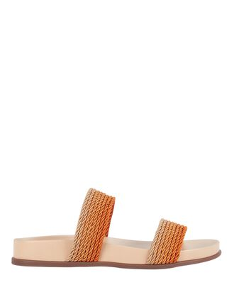 Georgia Rope Slide Sandals, BEIGE, hi-res