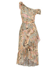 Uma Birds Of Paradise Voile Dress, IVORY/PRINT, hi-res