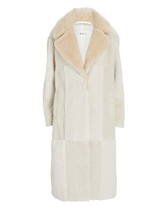 Stanley Faux Shearling Coat, IVORY, hi-res