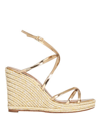 Gin 85 Espadrille Wedges, GOLD, hi-res
