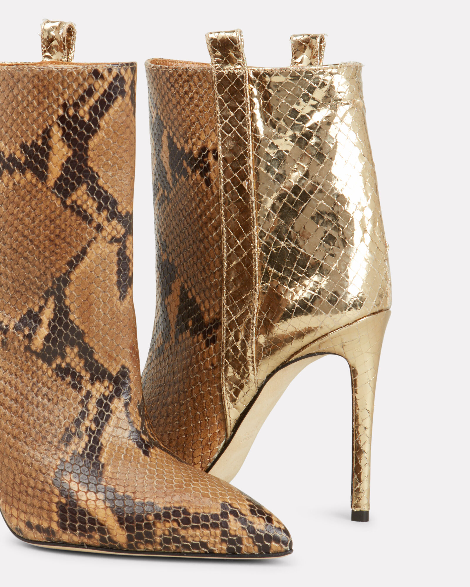 Two Tone Snakeskin Booties, MULTI, hi-res