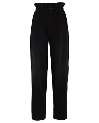 The Yoyo Ruffle Greaser Pants, BLACK, hi-res