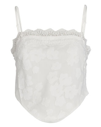 Floral Lace-Trimmed Camisole, , hi-res