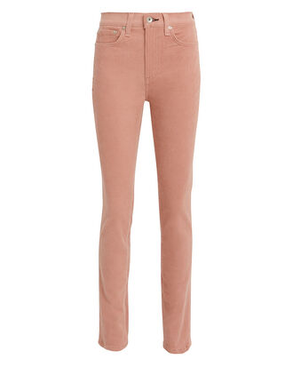High-Rise Corduroy Skinny Jeans, PINK, hi-res