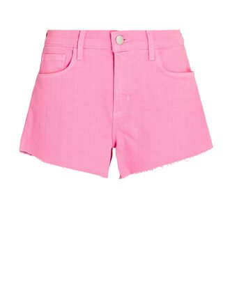 Audrey Cut-Off Denim Shorts, ROSEBLOOM, hi-res