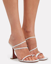 Naima Strappy Leather Sandals, WHITE, hi-res