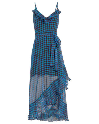 Sparks Fly Houndstooth Dress, BLUE/BLACK, hi-res
