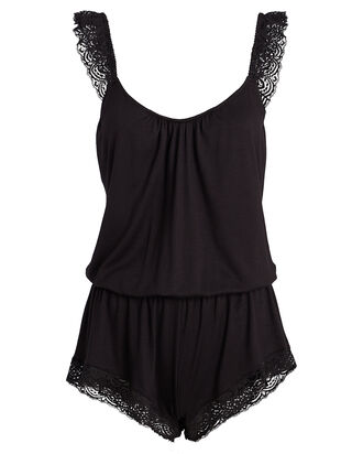 Cecilia Enchanted Teddy Romper, BLACK, hi-res