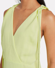 Flared Piqué Midi Dress, NEON GREEN, hi-res