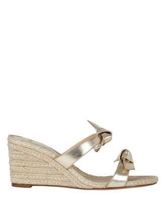 Clarita 85 Espadrille Wedge Sandals, GOLD, hi-res