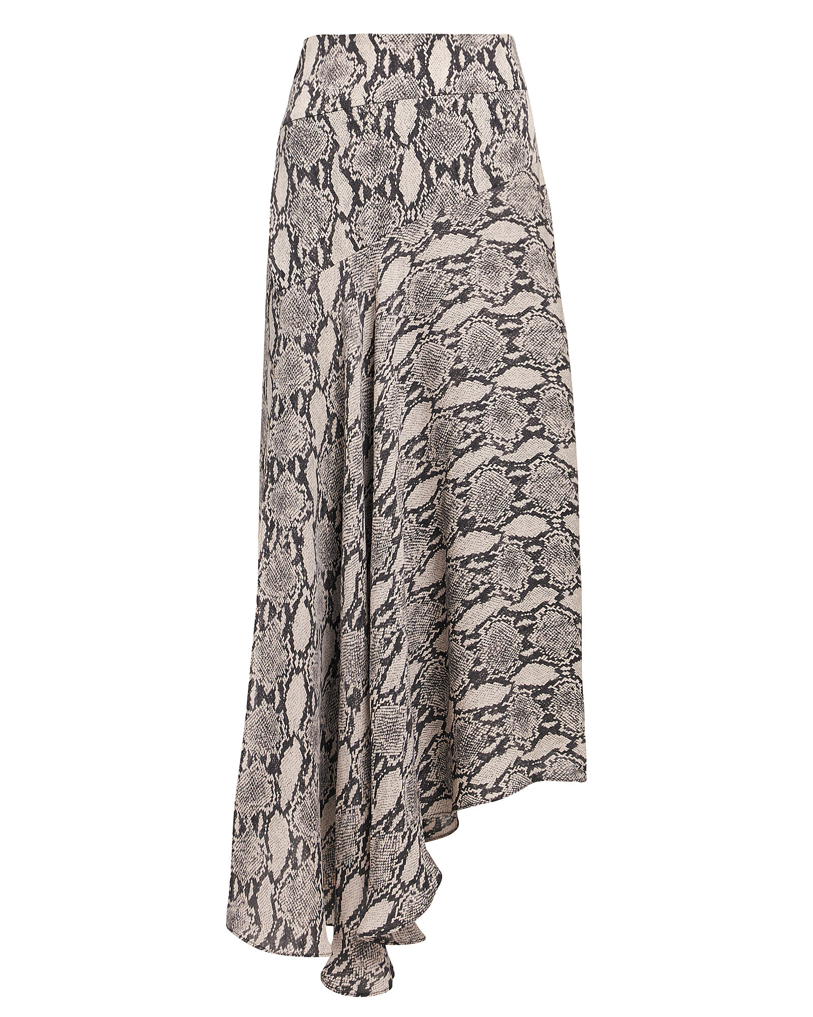 Lev Snake Print Midi Skirt, BROWN, hi-res