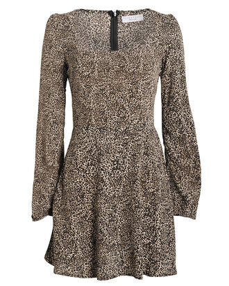Maiden Leopard Mini Dress, BROWN/LEOPARD, hi-res