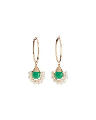Lolita Hoop Earrings, GREEN, hi-res