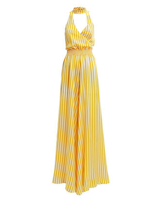 Lia Striped Jumpsuit, WHITE/YELLOW, hi-res