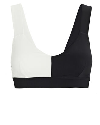 Elsa Two-Tone Sports Bra, BLACK/WHITE, hi-res