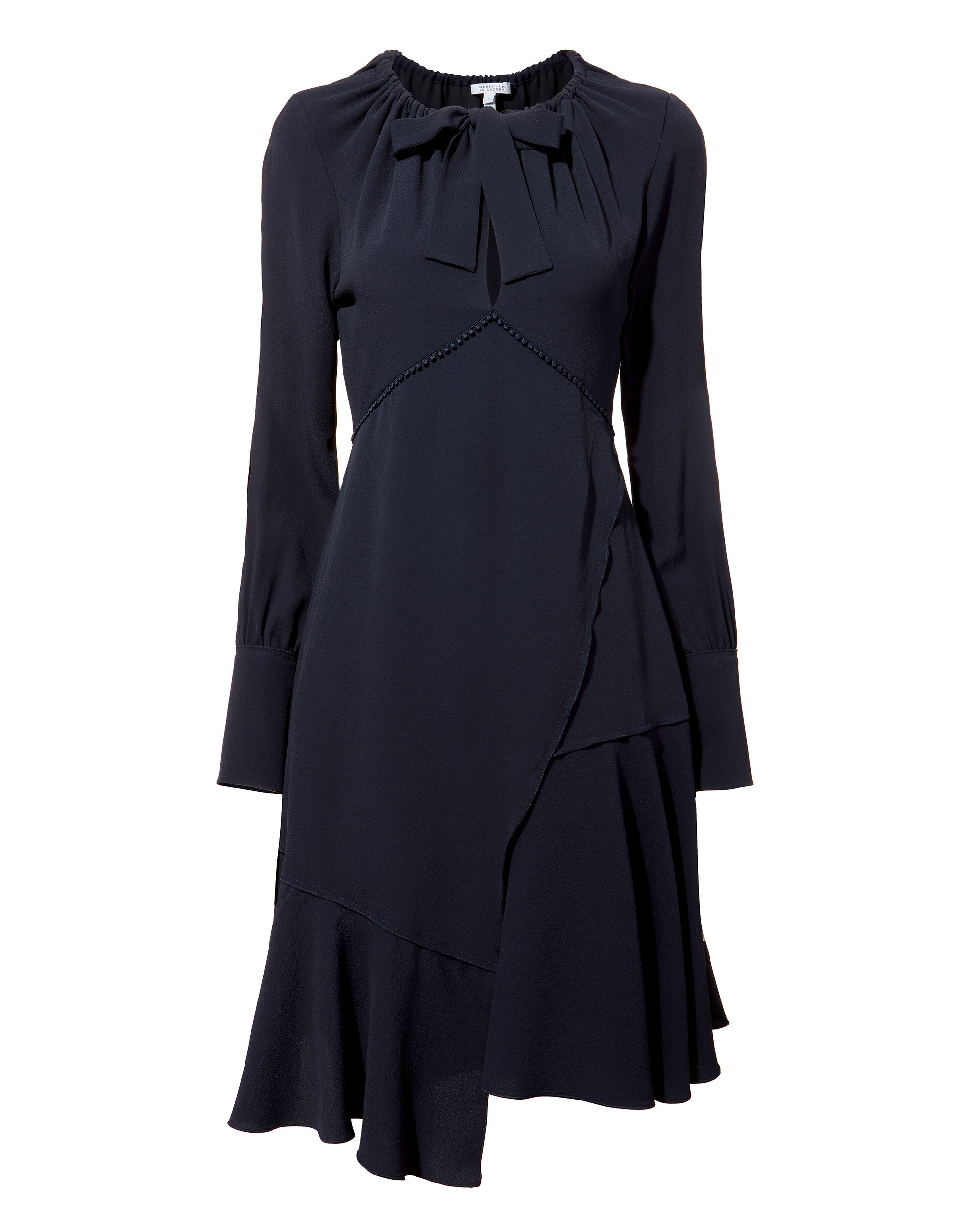 Asymmetric Shift Dress, NAVY, hi-res