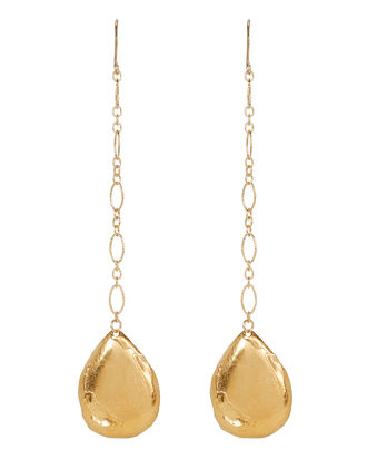 Trace Of A Tear Mismatched Earrings, GOLD, hi-res