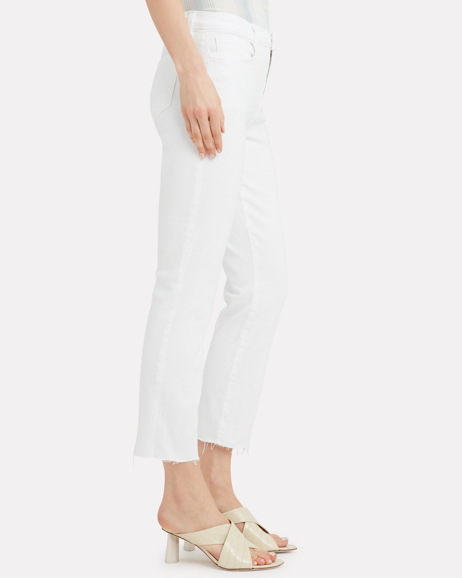 Sada Slim Straight Leg Jeans, WHITE, hi-res