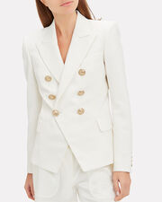 Classic Double-Breasted Blazer, WHITE, hi-res