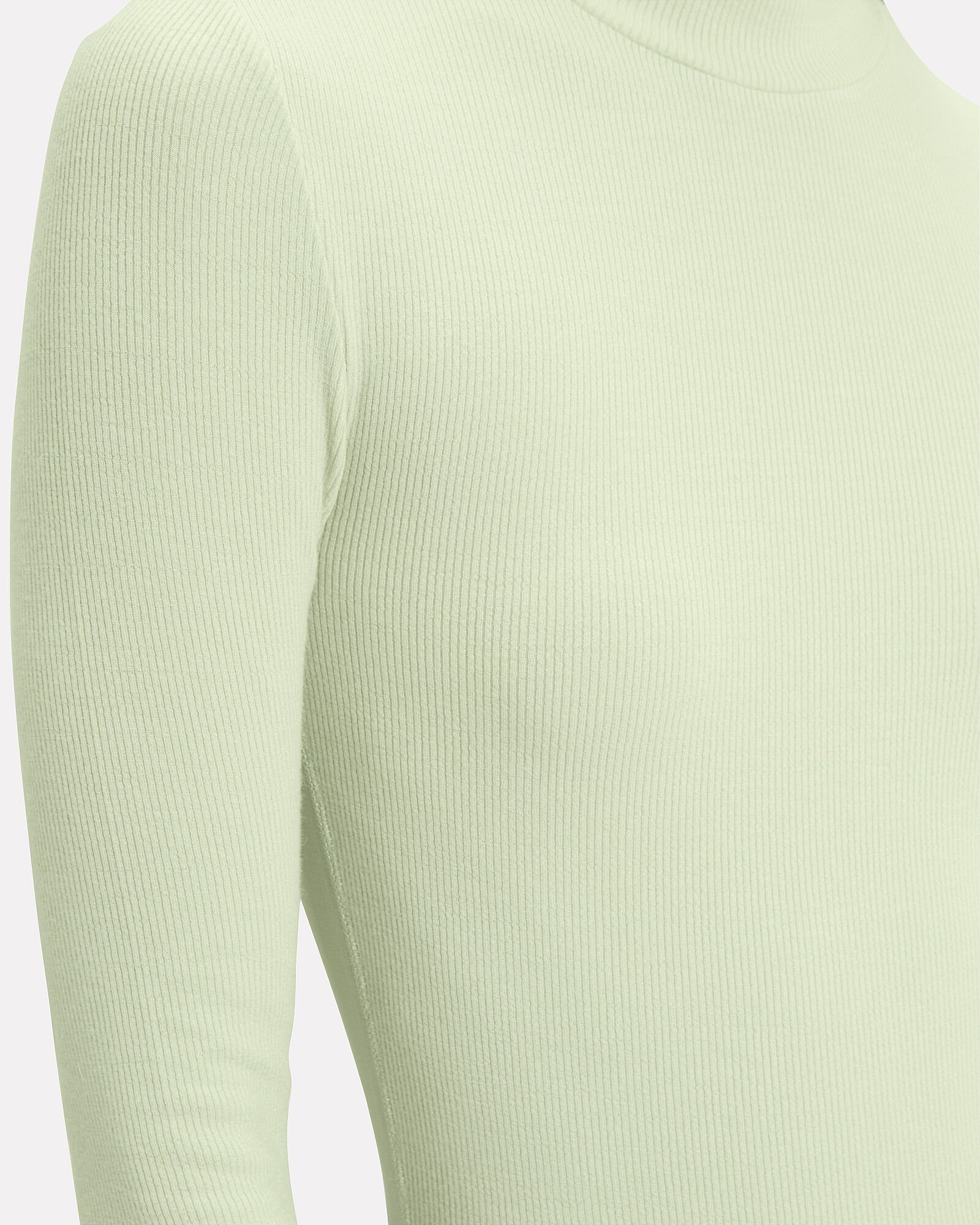 Knit Turtleneck Top, GREEN-LT, hi-res