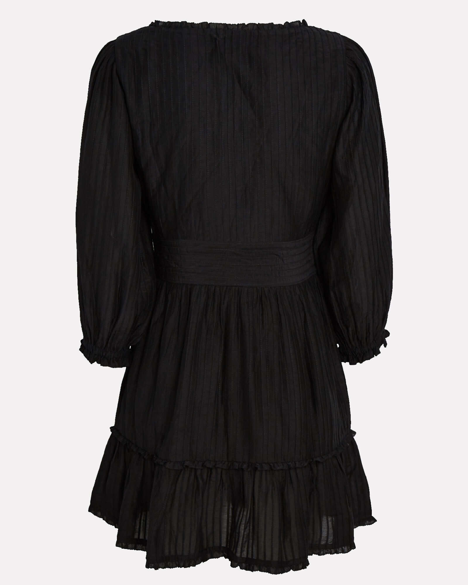 Darcy Silk-Cotton Mini Dress, BLACK, hi-res