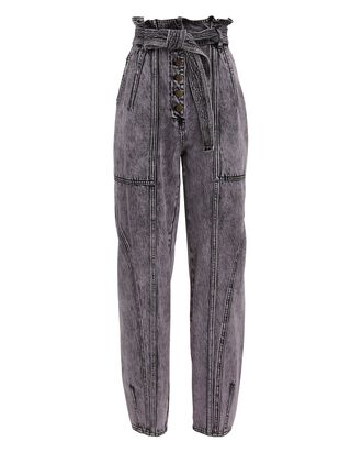 Brier Tie-Waist Acid Wash Jeans, PURPLE-LT, hi-res