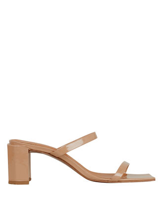 Tanya Patent Leather Sandals, TAN, hi-res